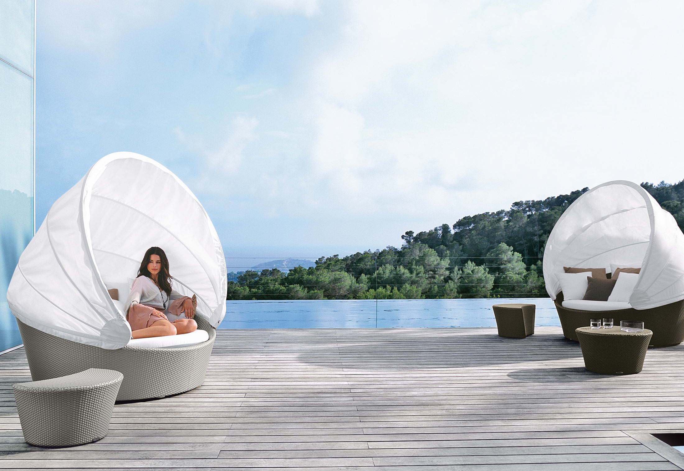 muebles para exterior dedon. Black Bedroom Furniture Sets. Home Design Ideas